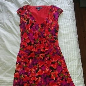 Like New Pink Floral American Living Body Con Drez